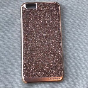 Rose Gold Sparkle Glitter iPhone 6+ Case